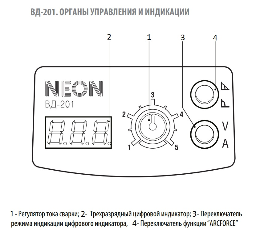 Неон вд 201 схема 720